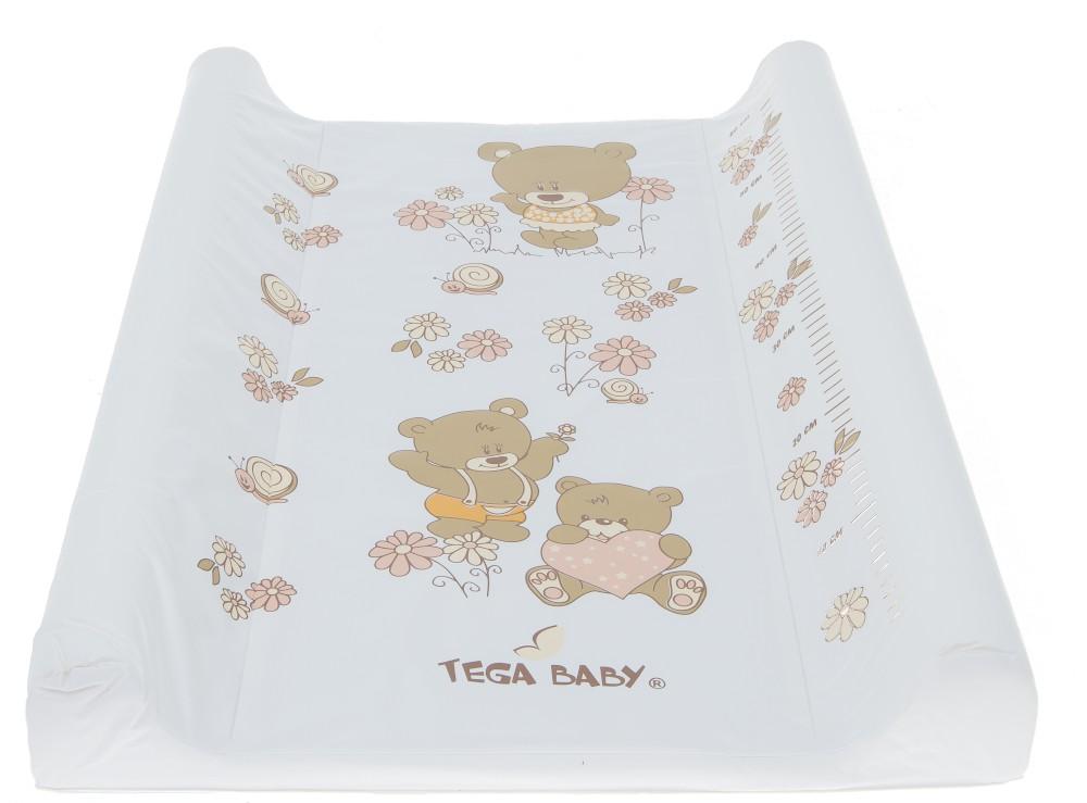 Пеленальная доска Tega Teddy Bear MS-009 118 white pearl