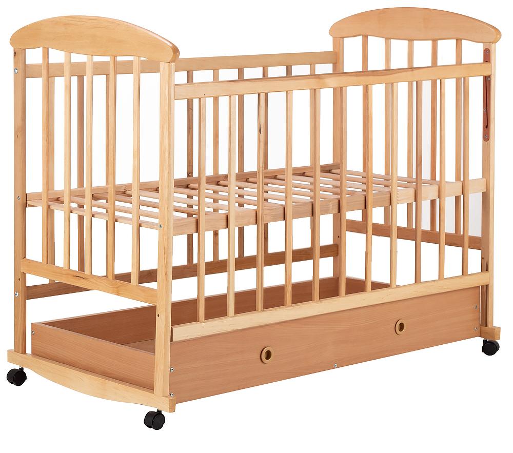 Кровать Наталка ОСЯ ящик  ольха светлая