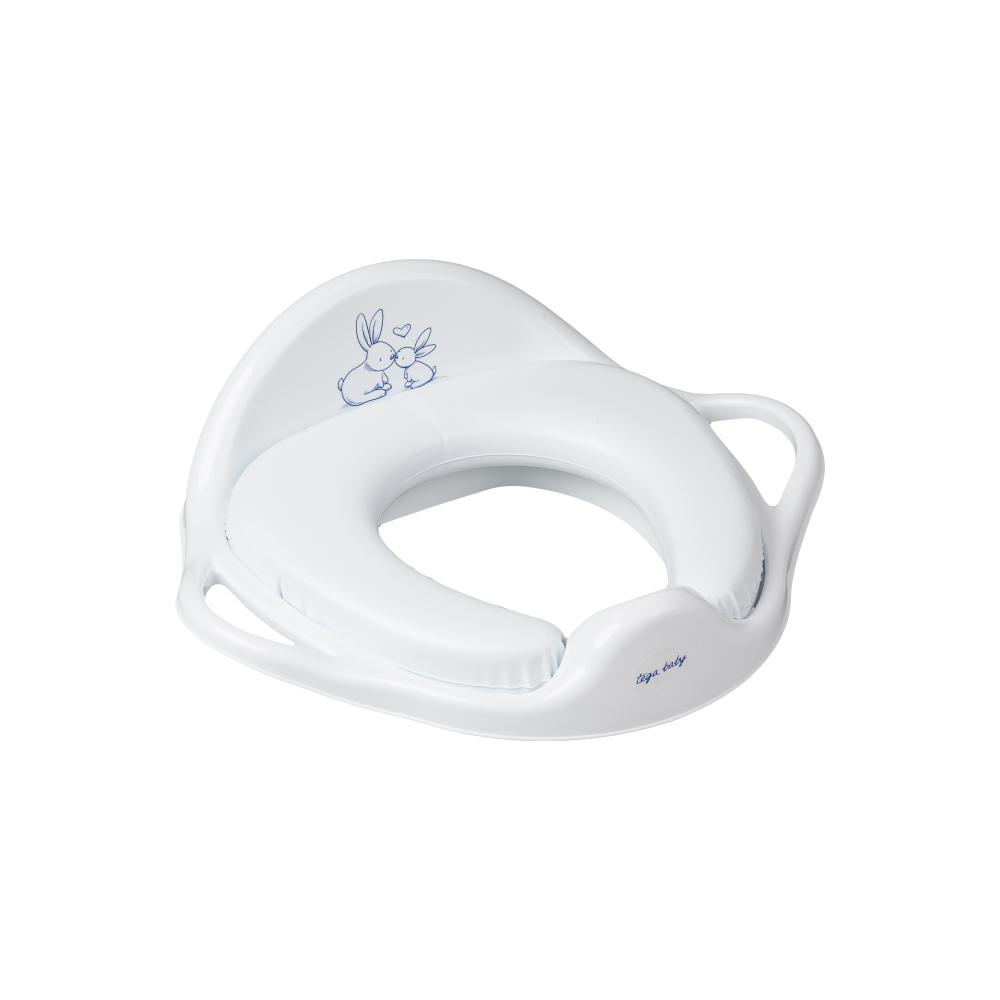 Накладка на унитаз Tega Little Bunnies KR-020 Soft мягкая 103 white