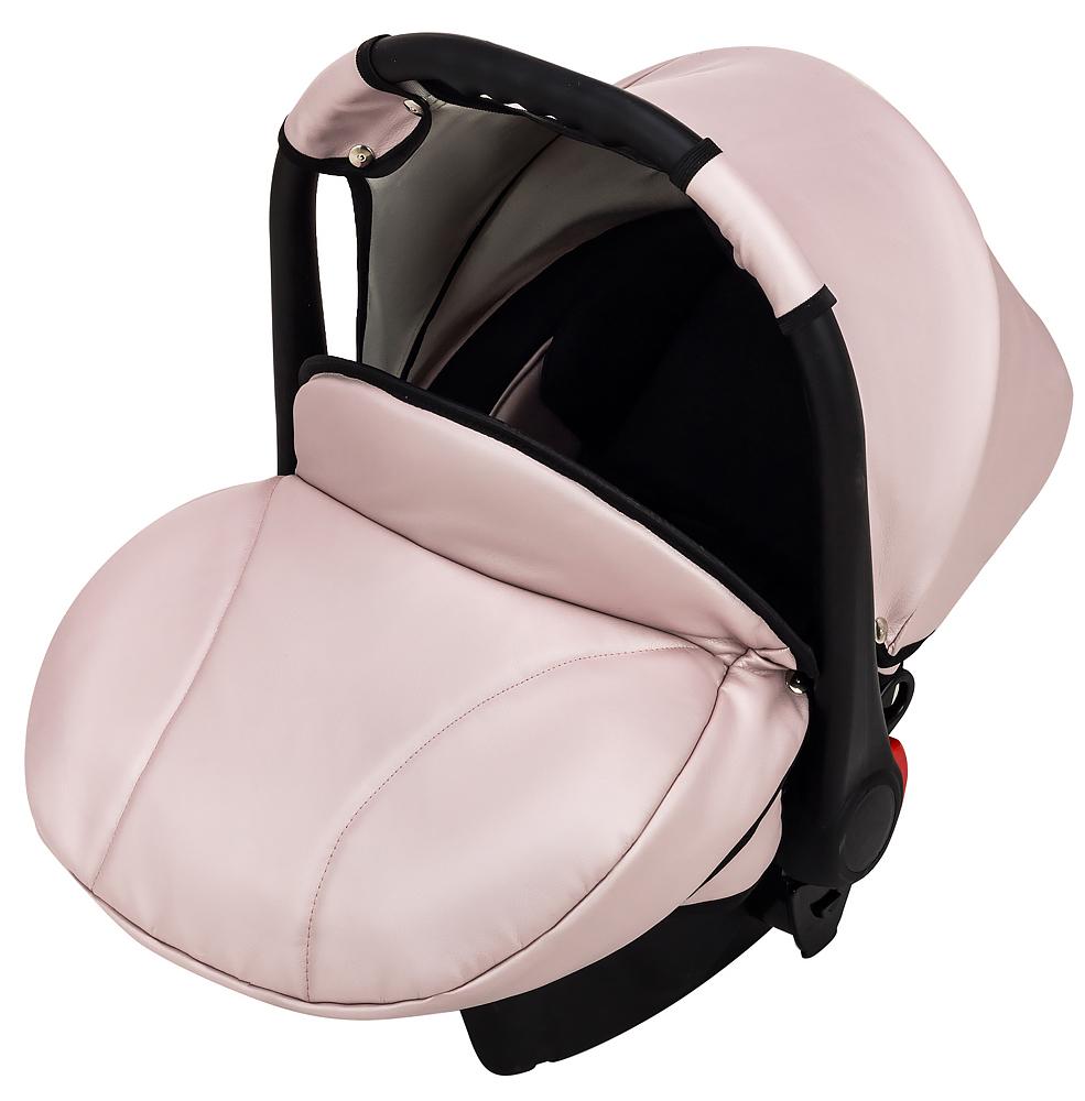Автокресло Bair Carlo кожа 100% CP-02 розовый перламутр