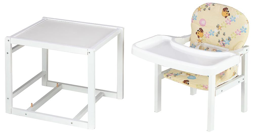 Стульчик- трансформер Babyroom Пони-240 белый пластиковая столешница  бежевый (винни пух)