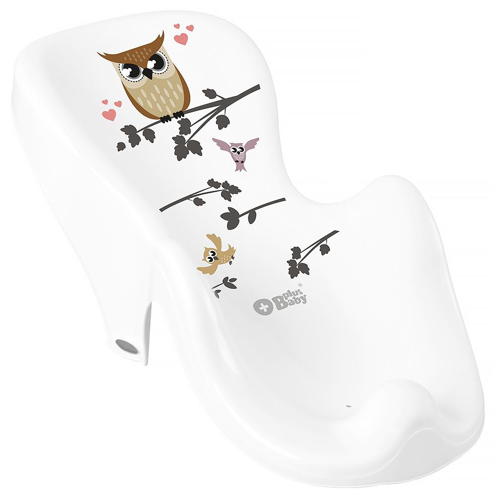 Горка для купания Tega Owl (Plus Baby) PB-SOWA-003 нескользящая 103 white
