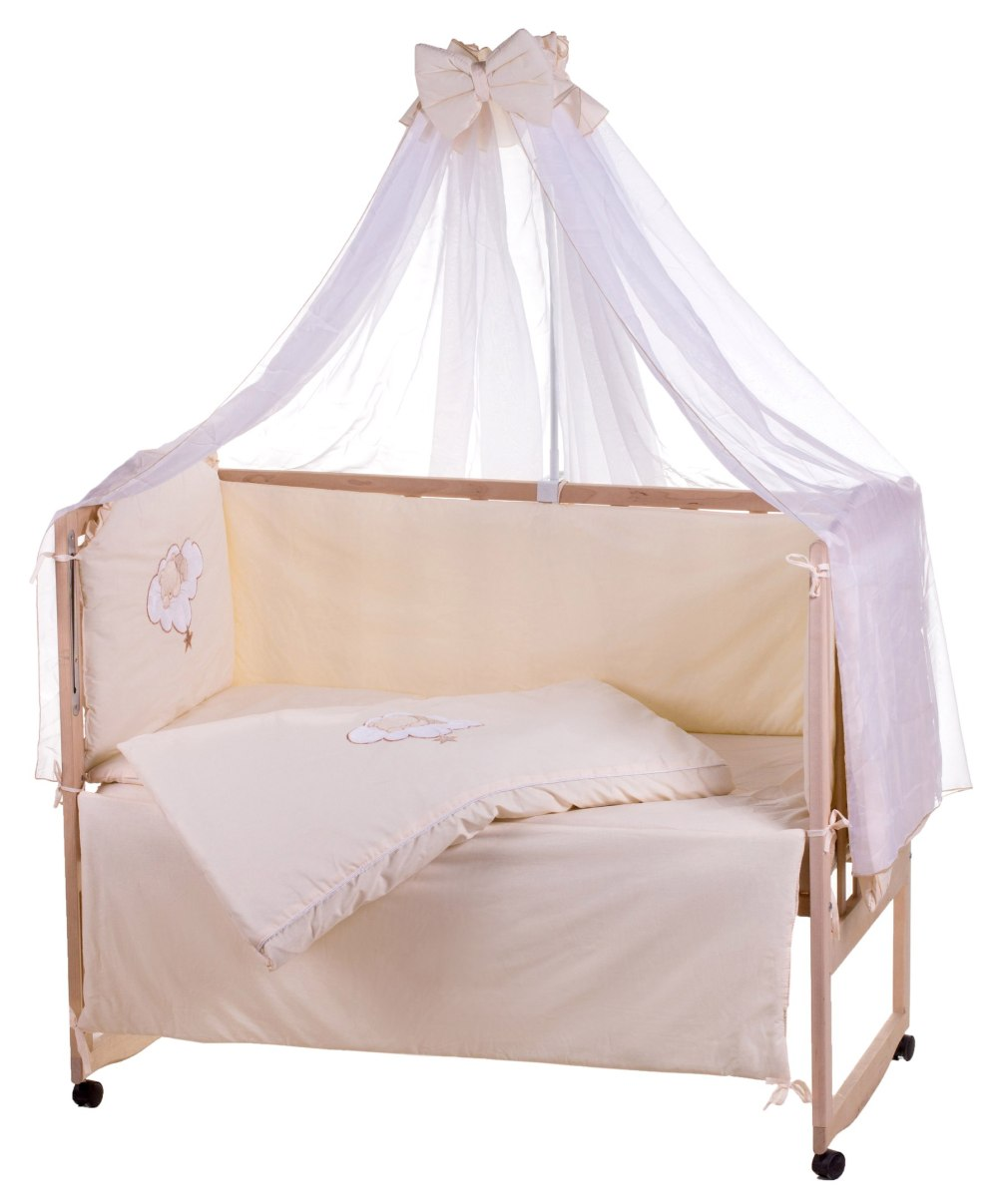 Детская постель Qvatro Ellite AE-08 аппликация  бежевый (мишка спит на облаке)