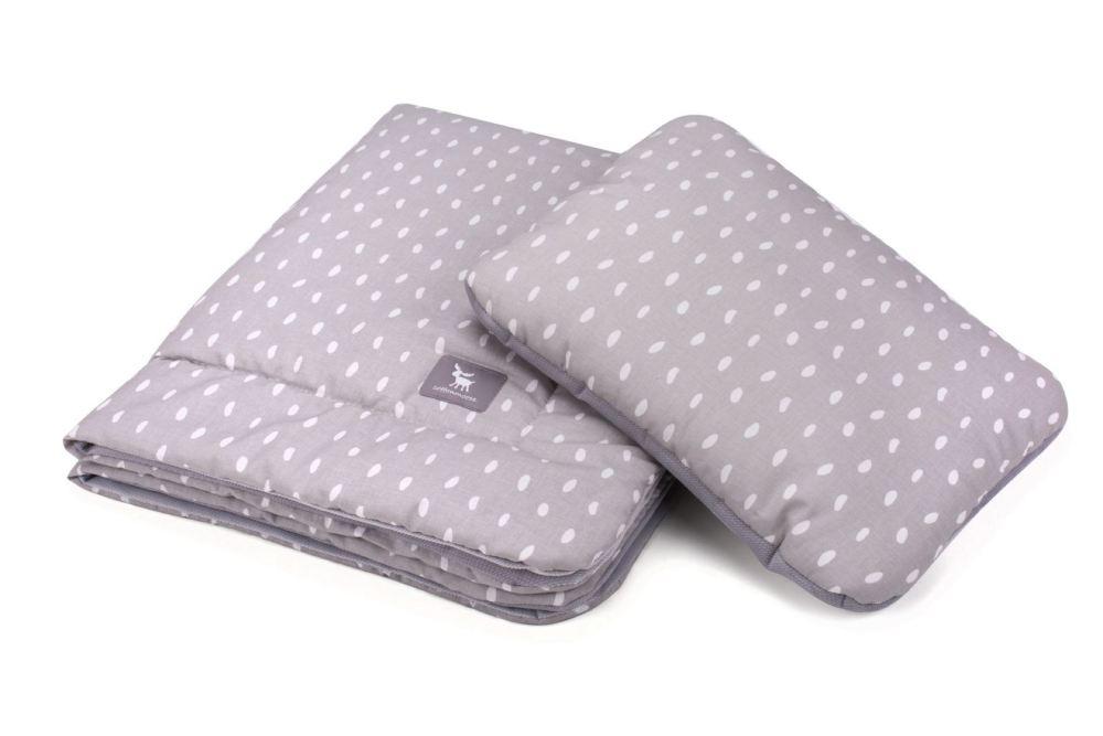 Плед с подушкой Cottonmoose Cotton Velvet 408/133/117 rain gray cotton velvet gray (серый (капли) с серым (бархат))