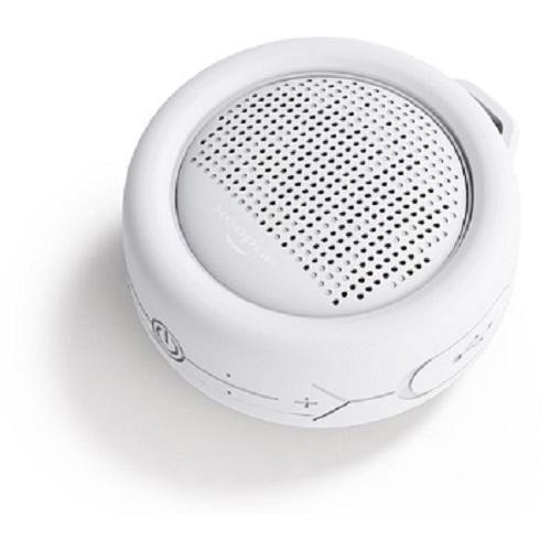 Влагозащищенная акуст. система XOOPAR – SPLASH POP (бел.,Bluetooth,SD-карта,USB-каб, карабин)