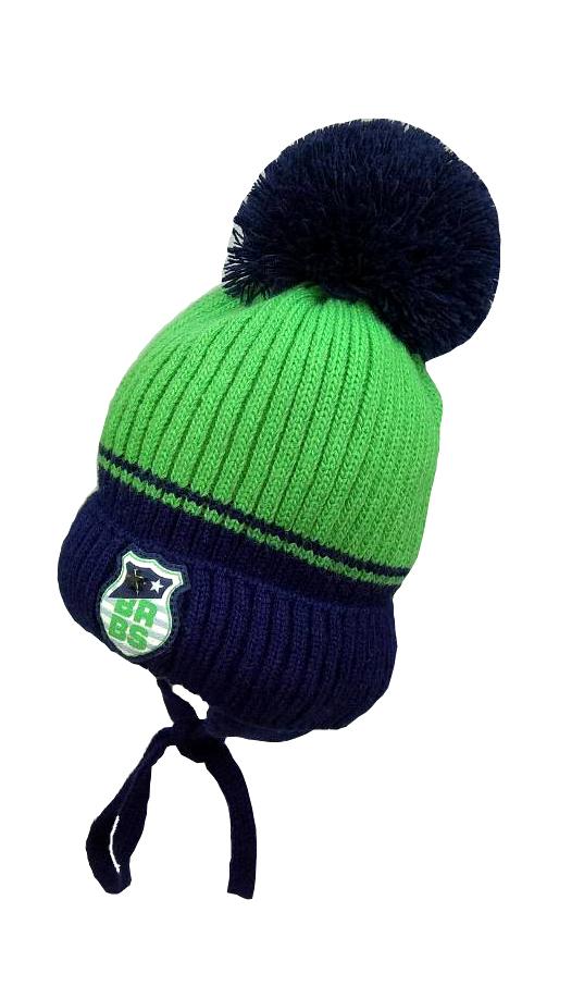 Зимняя шапка для мальчика с искусственным помпоном