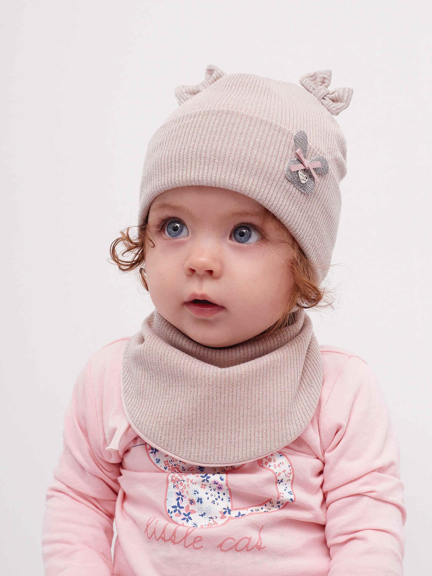 Деми шапка и хомут для девочки
